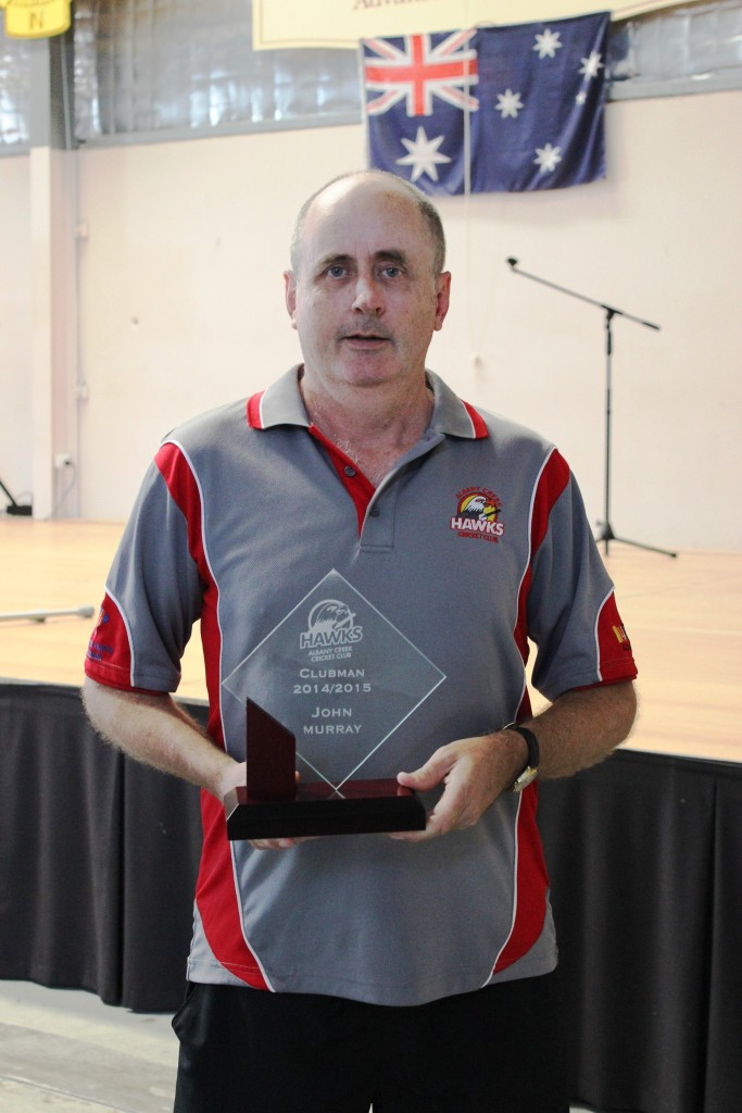 John Murray, Clubman of The Year for 2015