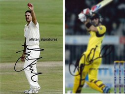 Signed and Framed photos of Mitchell Johnson and Glenn Maxwell