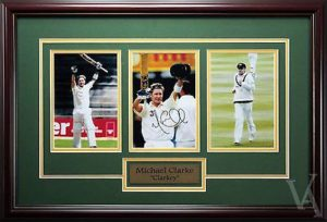 Michael Clarke Signed and Framed photos